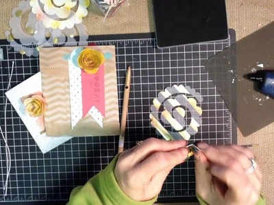 How to use the Spiral Flower Big Shot Die from Stampin' UP!