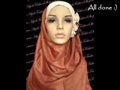 How to wear hijab with flower underscarf