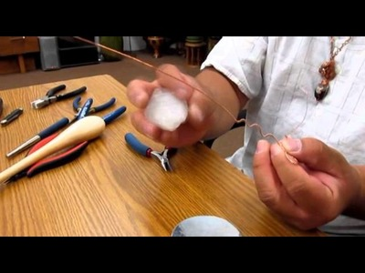 "How to Wire Wrap Crystals ""All American Freedom Wrap"" w. Bill Jun ILoveLotus.com"