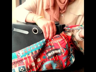 How to Wrap your Hermes Herbag with Scarf