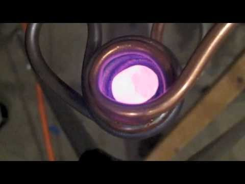Induction heater levitation melting aluminum