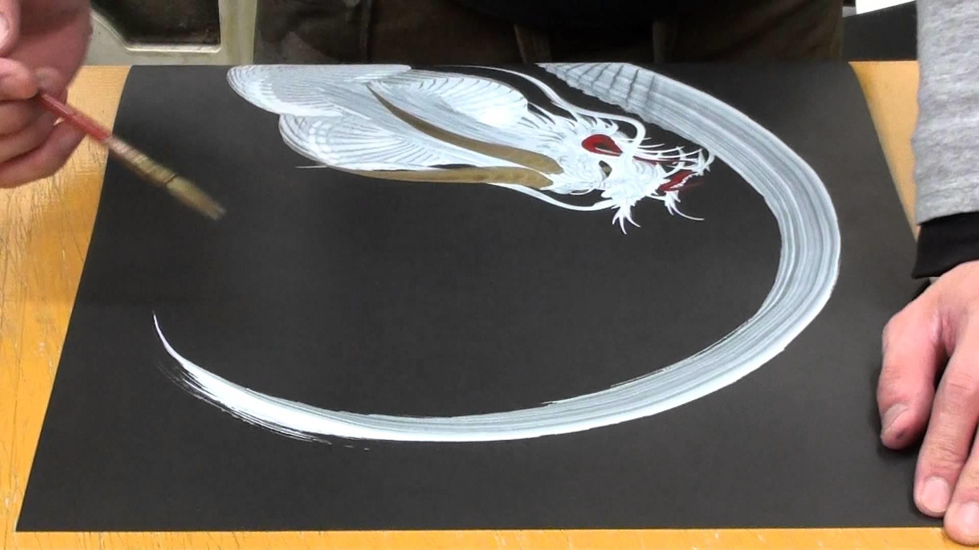 Japanese Dragon Painting at Nikko - Japan 2.3
