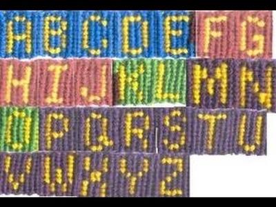 PART 10: How to make the letter I name word alphabet friendship bracelet