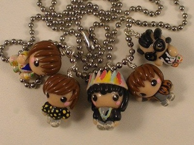 Polymer Clay B1A4 Charm Necklace