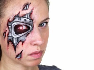 Robot. Terminator Makeup Tutorial