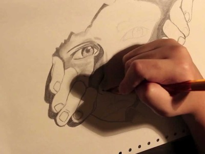 The Man In The Paper Illusion Drawing (Time Lapse)