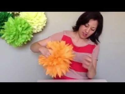 Tissue Pom How-to fluff - Prost to the Host Original Tissue Paper Poms
