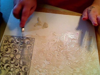 USING PAPER CLAY AS MODELING PASTE AS BACKGROUND