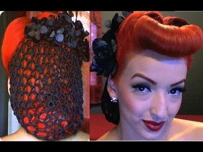 Vintage Pinup Snood Hair Tutorial