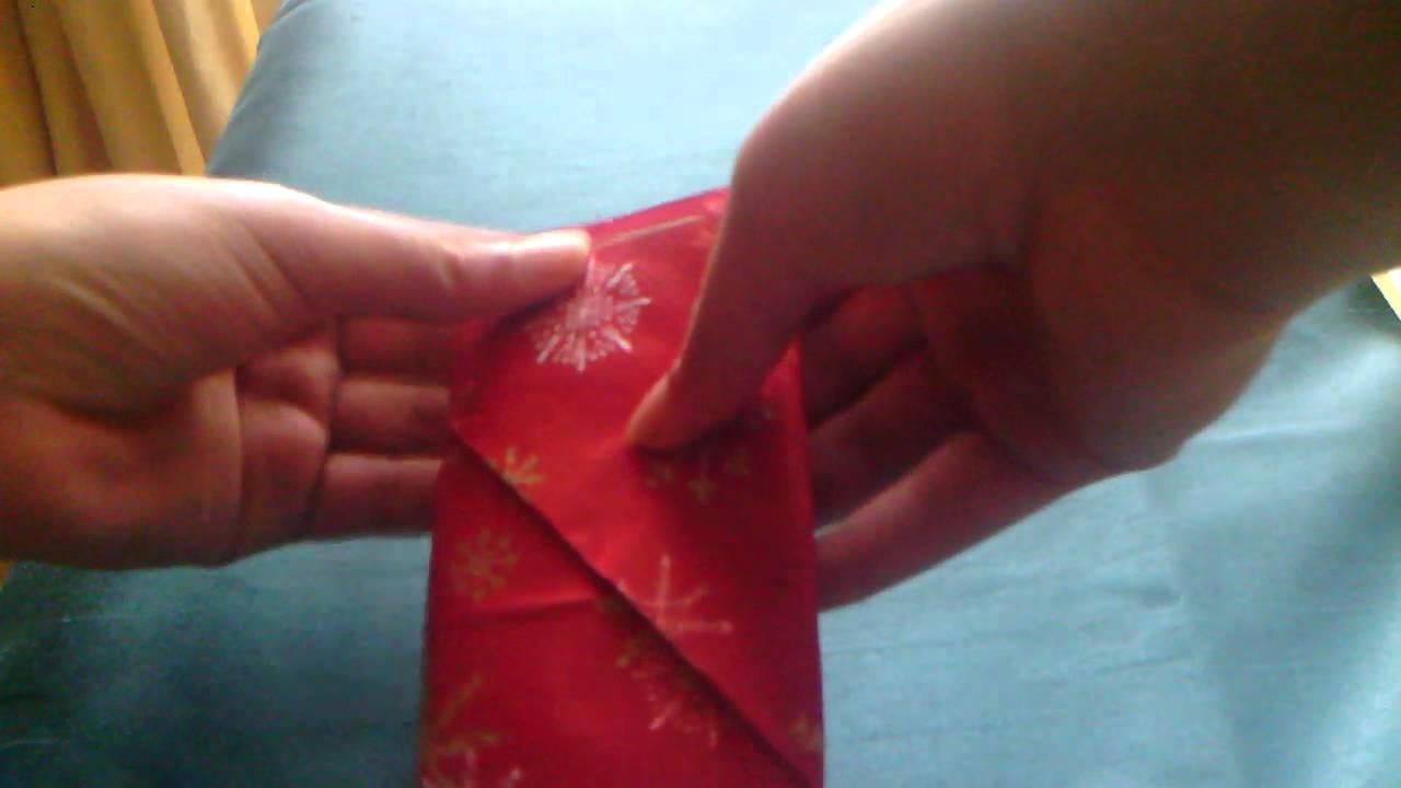 A Paper Napkin Cutlery Pocket