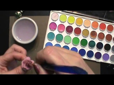 Coloring your flowers with water color paints and mica powder tutorial