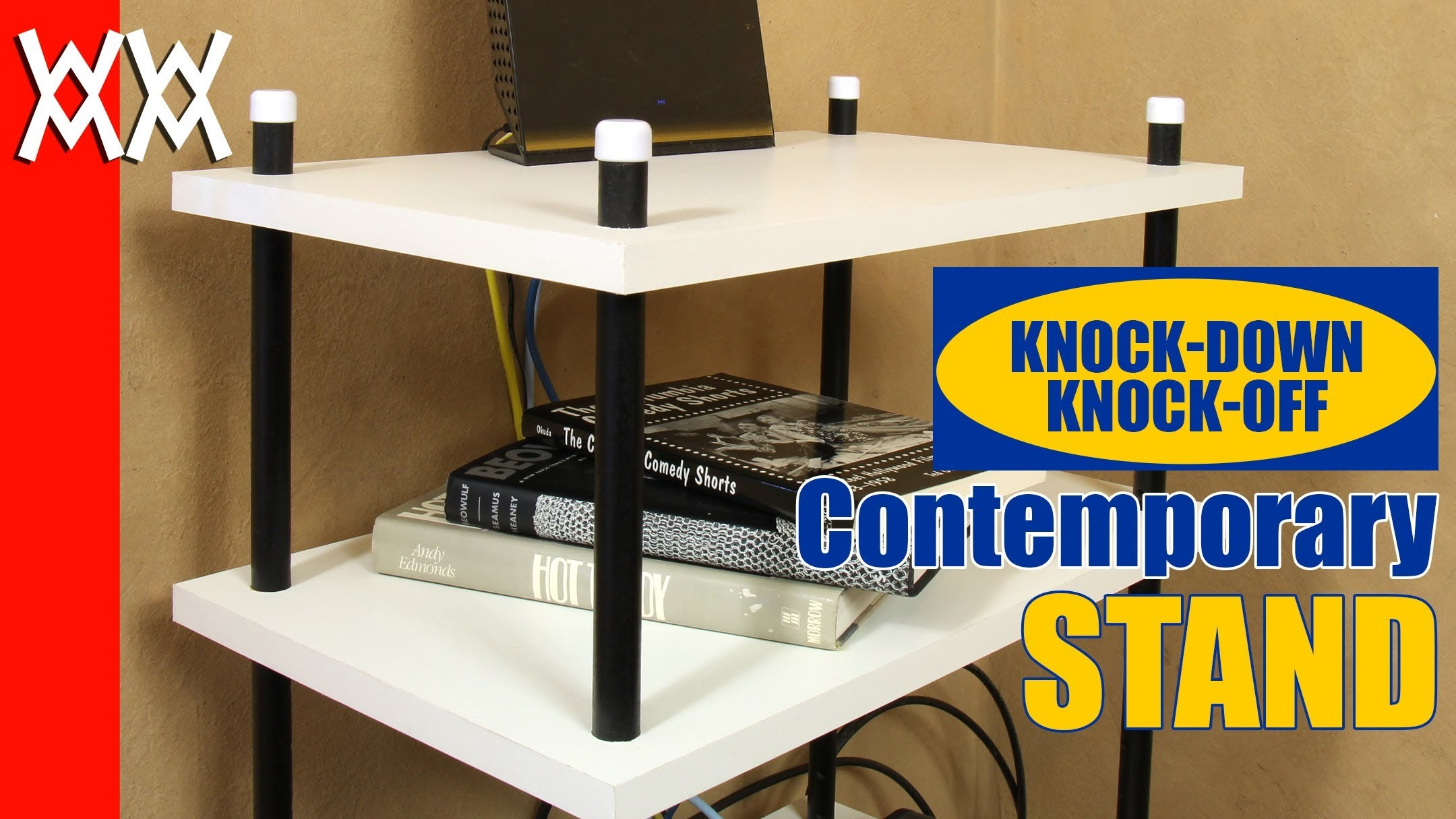 Contemporary, adjustable stand. Build your own stylish bookcase and save money.