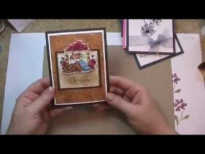 Creative card making with tissue paper