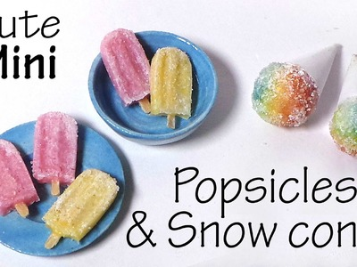 Cute & Easy; Frosty Popsicles & Snow Cones - Polymer Clay Tutorial