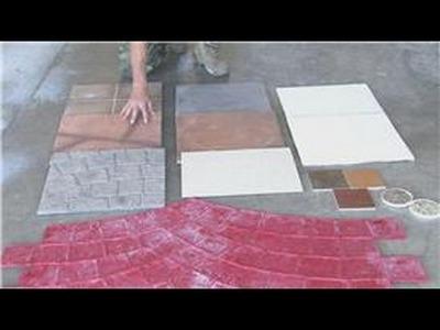 Decorative Concrete Techniques : How to Stamp Concrete Designs