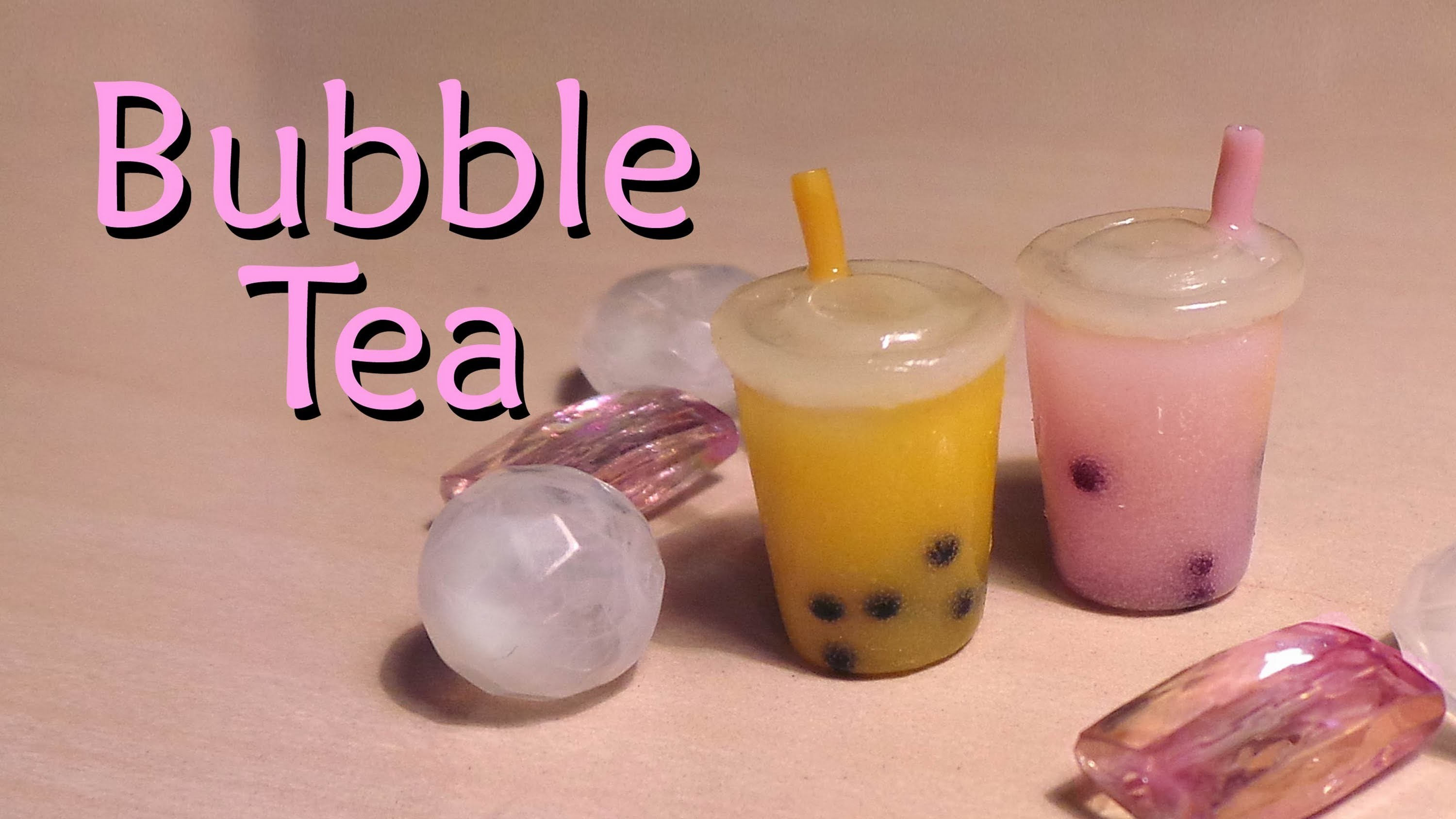 Easy Polymer Clay Tutorial; Bubble. Boba Tea Charm