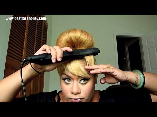 How To Create Bangs (Fake Bangs) Without Cutting Your Hair.  (Beyonce Countdown Video)