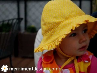 How to make a baby sun hat with ruffle {plus free pattern}