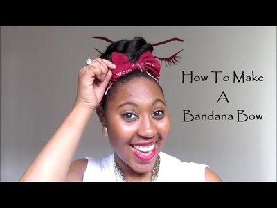 How To Make A Bandana Bow
