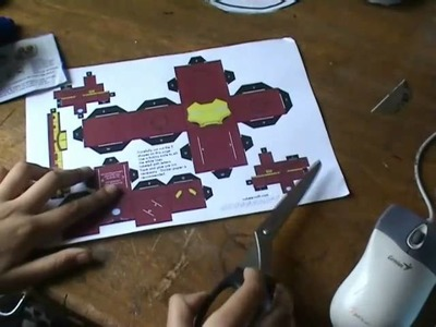 How to make a cubee iron man or any humanoid