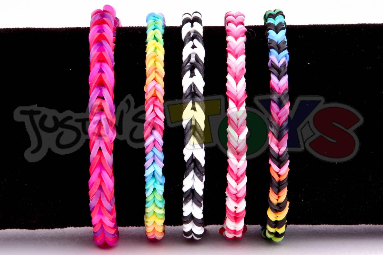 How to Make a Fishtail Nano - Mini Fishtail - Thinnest Rainbow Loom Bracelet Tutorial
