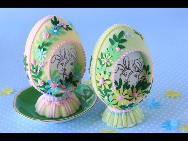 How to Make Cast Sugar Easter Eggs with Edible Papers - Part 1 (The Outsides)