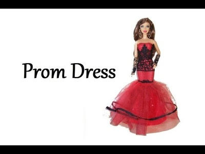 How to make doll clothes - Prom dress (Mermaid dress)
