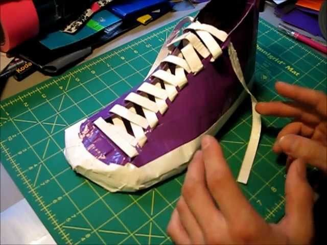 How to make Duct tape shoes Part 1