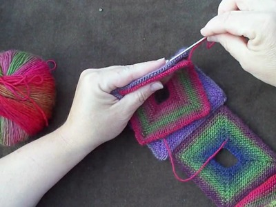 How to Seam the Holey Squares Scarf