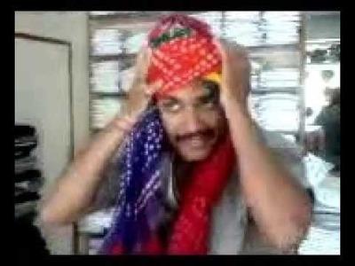How to wear Rajasthani Safa ( Turban ) Jodhpur INDIA Popular in UK and America