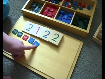 Montessori Homeschool 3 games with number cards & stamp game