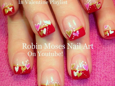 Nail Art Tutorial | Easy Nail Art for Beginners | Cute Valentine Heart Nail Design