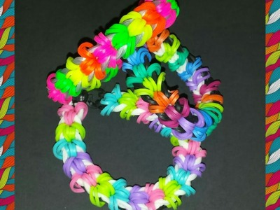 "New ""Flapper"" Rainbow Loom Bracelet.How To Tutorial"