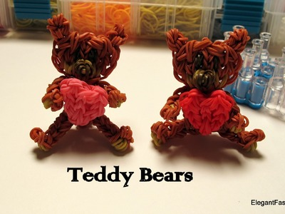 Rainbow Loom Teddy Bear Charm - Valentine's Day - How to