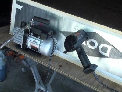 Solar panel diy oven for laminating EVA and Tedlar