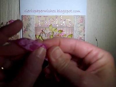 Vintage Seam Binding Flower Tutorial