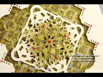 """Carte de Noël """"Dentelle Pliée"""" * """"Folded Lace"""" Christmas Card"""