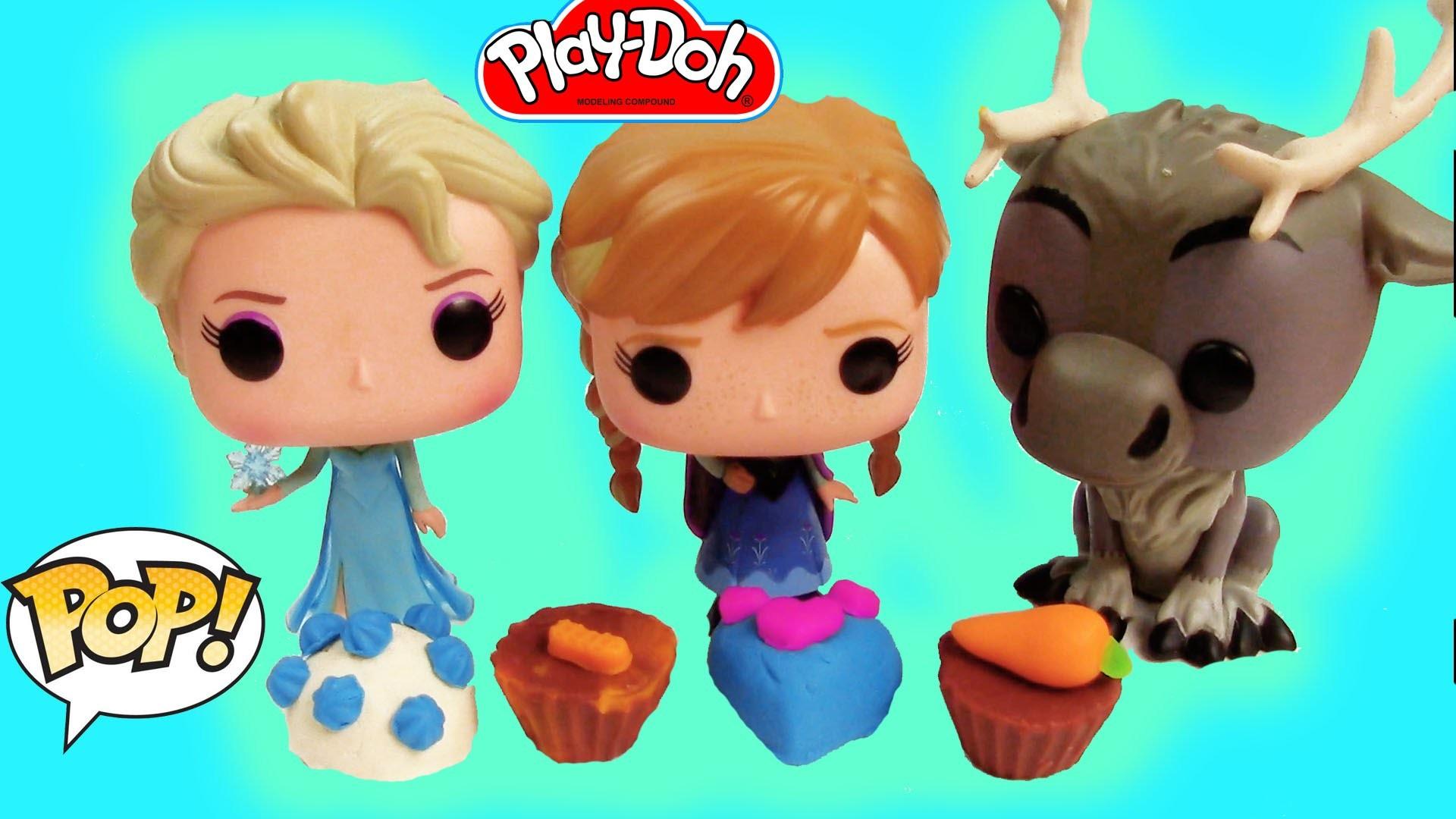 Disney Play-doh Chocolate Popper Maker Frozen POP Vinyl Queen Elsa Princess Anna Unboxing
