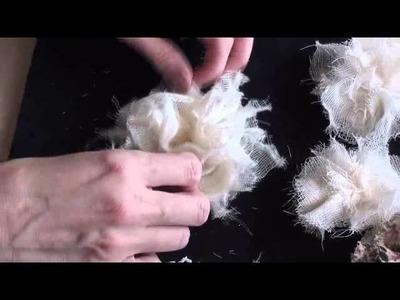 Easy shabby chic flower tutorial (no sew and no glue)