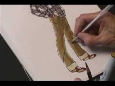 How to Draw Denim and Plaid