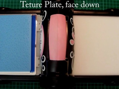 How to emboss with Fiskars Texture Plates and a Big Shot