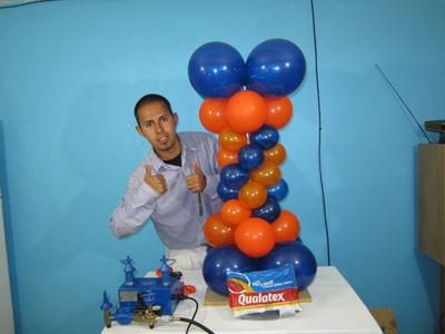 How to make a Balloon Column - Balloon Decoration Ideas