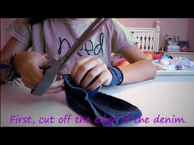 How to make a Bracelet out of Jean Scraps!