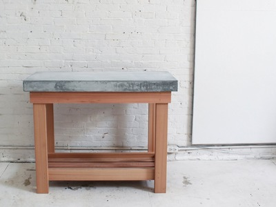 How to make a DIY Outdoor Kitchen Island with a Concrete Countertop