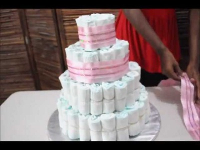 How to make a fabulous four Tiered Diaper Cake!