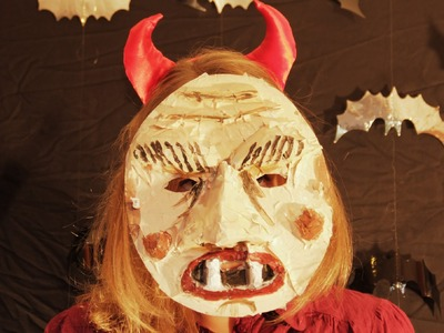 How to make a Halloween Mask for Costume Party Fancy Dress