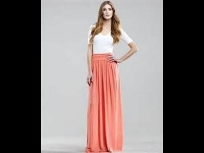 HOW TO MAKE A MAXI SKIRT WITH PLEATS