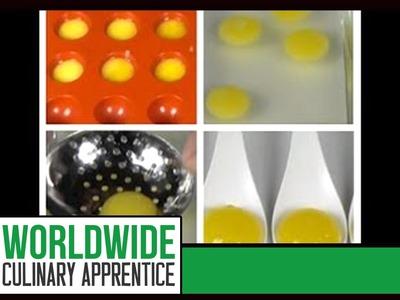 How to make Vodka Orange Liquid Raviolis - Reverse Spherification - Molecular Recipes