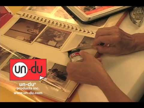 How to remove photos from magnetic albums