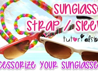 NEW Sunglasses. Glasses Strap Sleeve Trisingle Rainbow Loom Tutorial | How To